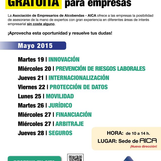 Consultoría presencial GRATUITA para empresas (del 19 al 28 de mayo)