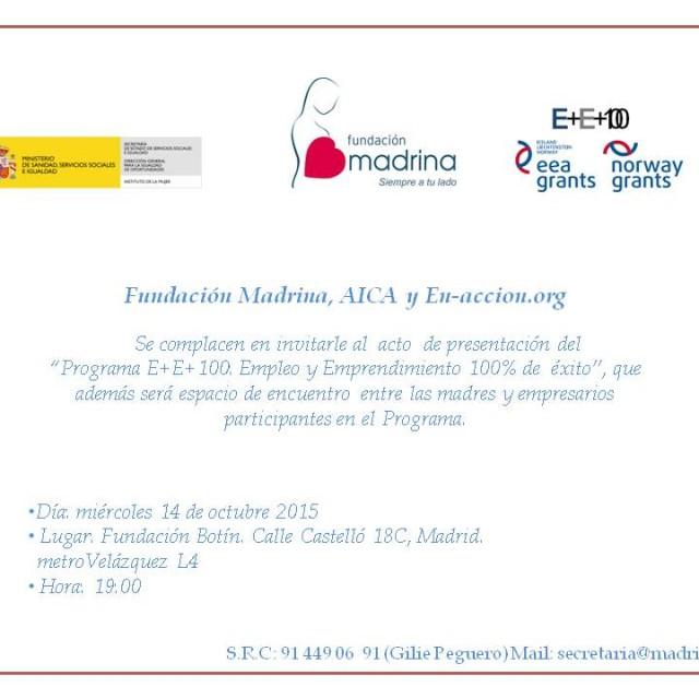 Presentación del Programa E+E+100