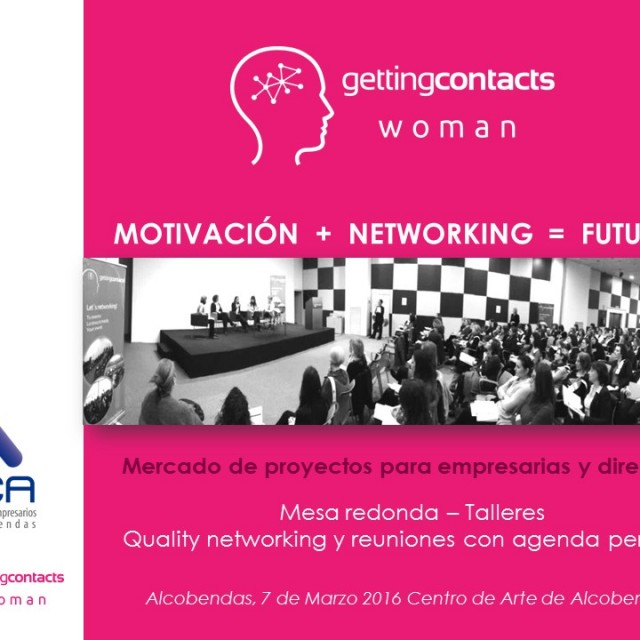 Getting Contacts Woman Madrid Alcobendas #GCWAlcobendas