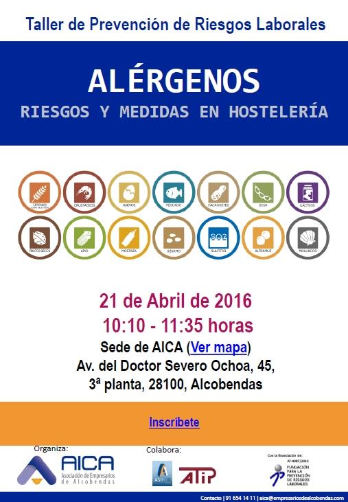Taller de PRL- Alérgenos, riesgos y Medidas en la hostelería 21.04.2016 A