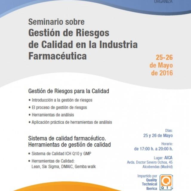 Seminario sobre Gestión de Riesgos de Calidad en la Industria Farmacéutica