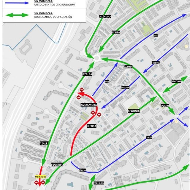 El Ayuntamiento de Alcobendas reordena la circulaciónen El Soto para ganar fluidez y seguridad en el tráfico