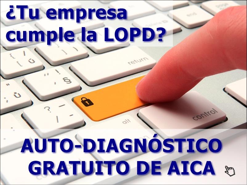 Banner autodiagnóstico LOPD 2