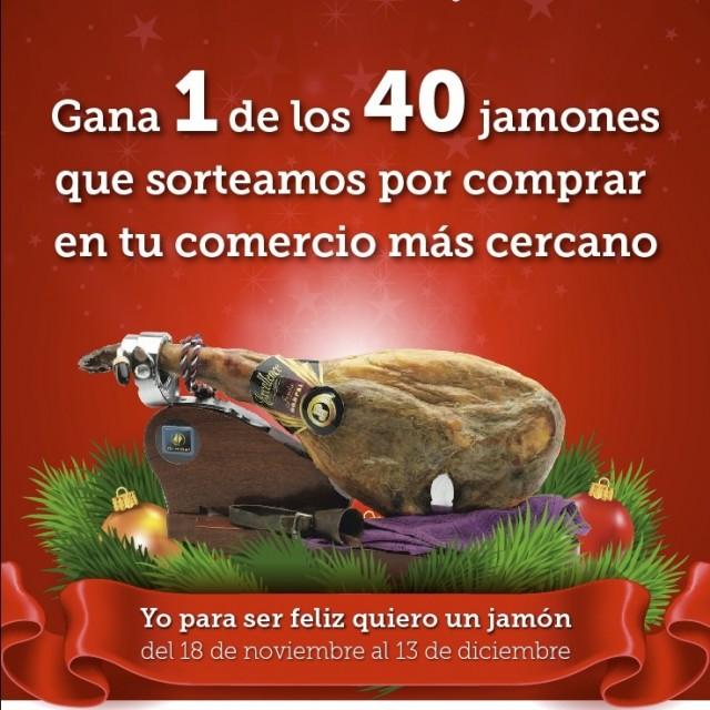 ENTREGA de los 40 jamones de la campaña de comercio: Yo Para Ser Feliz Quiero Un Jamón