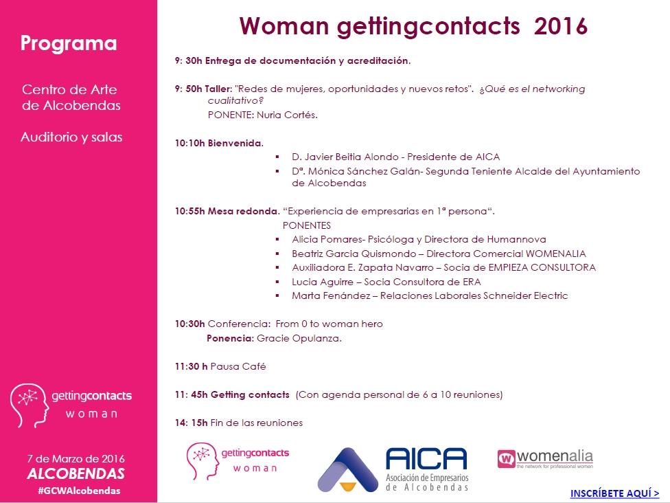 2016 GETTING WOMAN  solo programa 03.03.2016