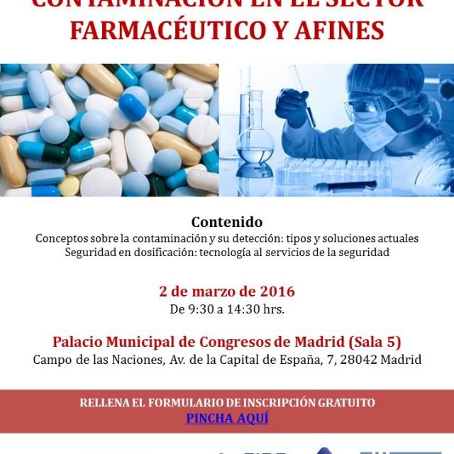 Simposium sobre los aspectos importantes de la CONTAMINACIÓN EN EL SECTOR FARMACÉUTICO Y AFINES