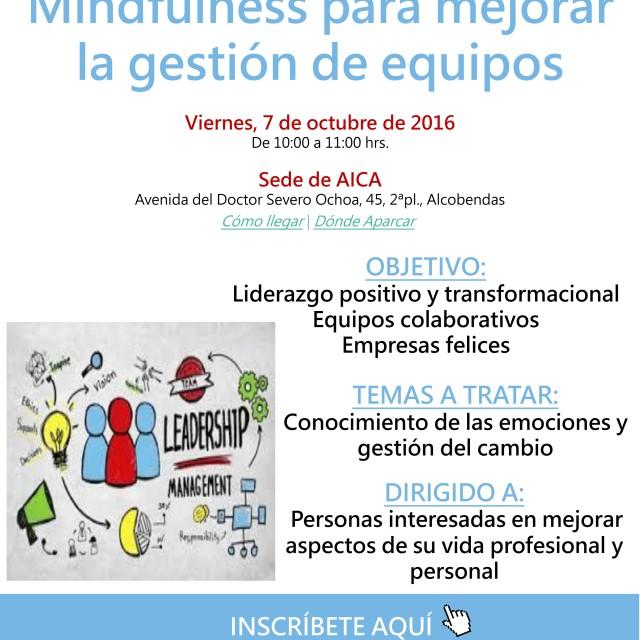 Jornada: Mindfulness para mejorar la gestión de equipos