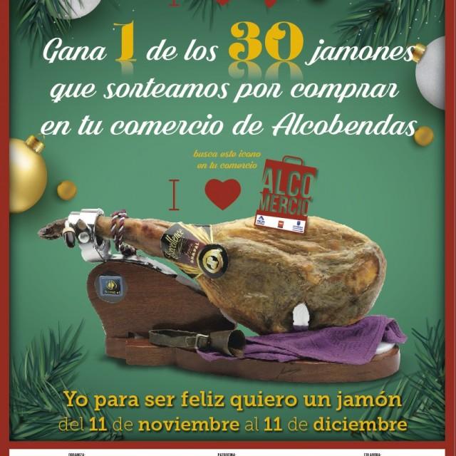 'Yo para ser feliz quiero un jamón': Gana un jamón por comprar en las tiendas de Alcobendas