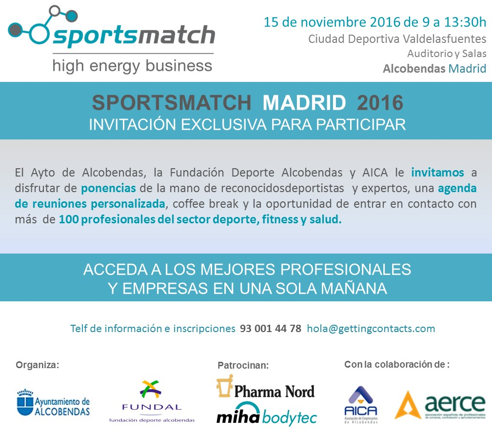 Invitacion SPORTSMATCH Madrid Alcobendas 2016 v2