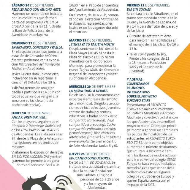 Semana Europea de la Movilidad en Alcobendas 16-22 de septiembre