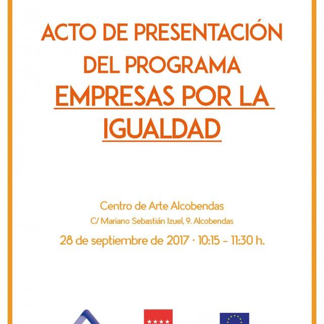 """Acto de presentación del programa """"Empresas por la Igualdad"""""""