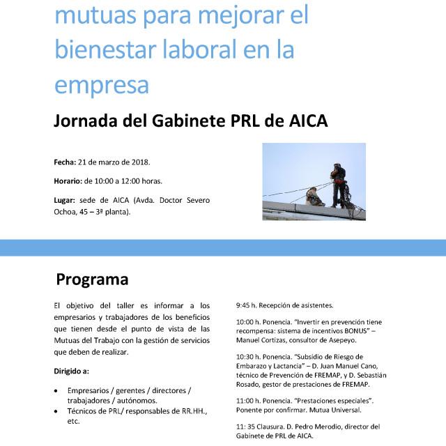 Taller PRL: Buenas prácticas de las mutuas para mejorar el bienestar laboral en la empresa
