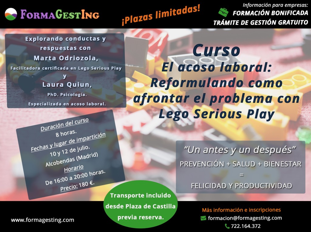 CURSO ACOSO LABORAL LEGO SERIOUS PLAY FORMAGESTING