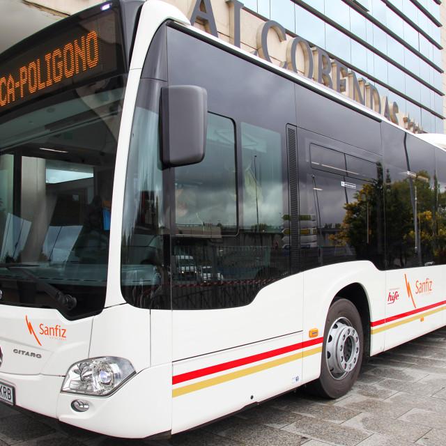 Sanfiz presenta su nuevo autobús Mercedes – Benz Citaro LE que se suma al Transporte  Interempresas de Alcobendas