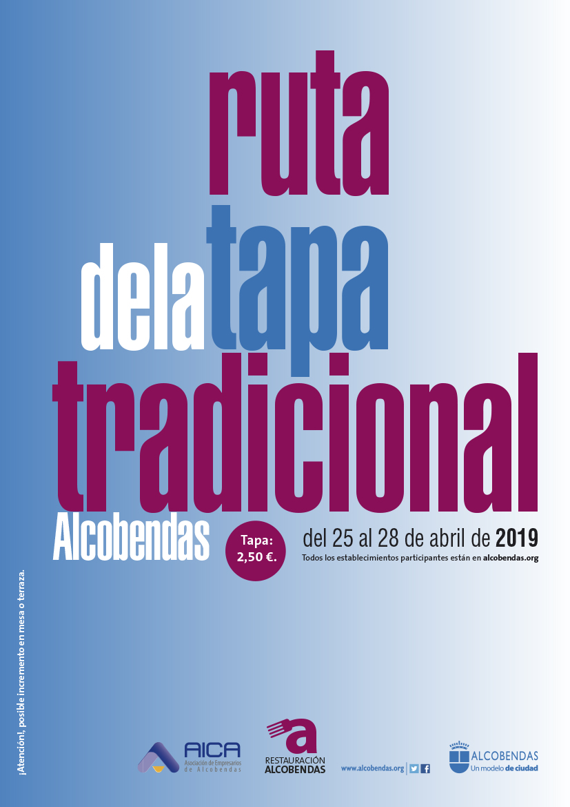 Cartel Ruta de la Tapa tradiconal 2019