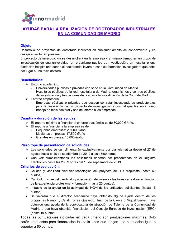 FICHA INNORMADRID AYUDAS DOCTORANDOS COM MADRID