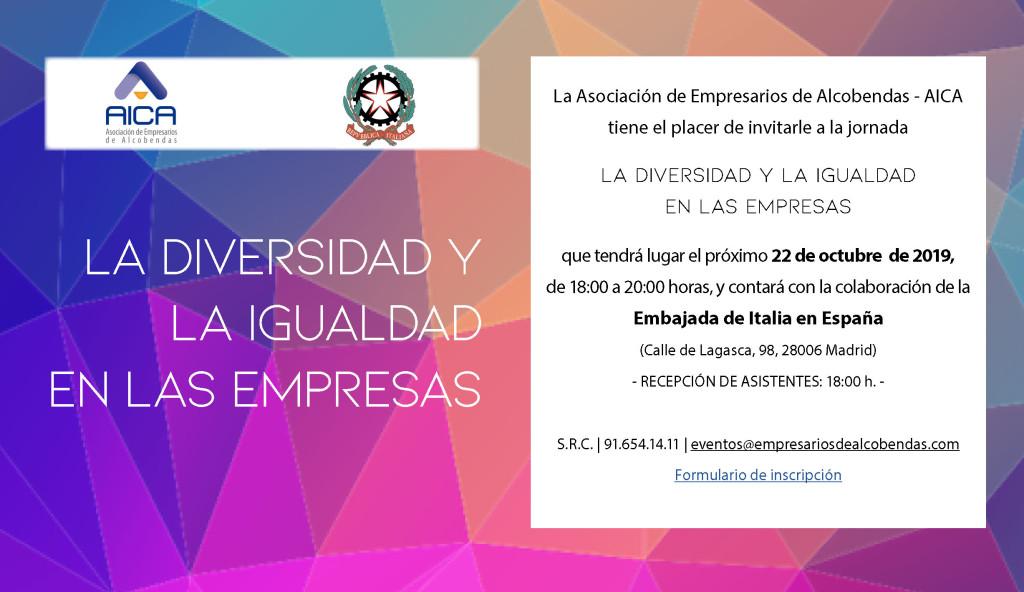 INVITACIÓN DIVERSIDAD E IGUALDAD