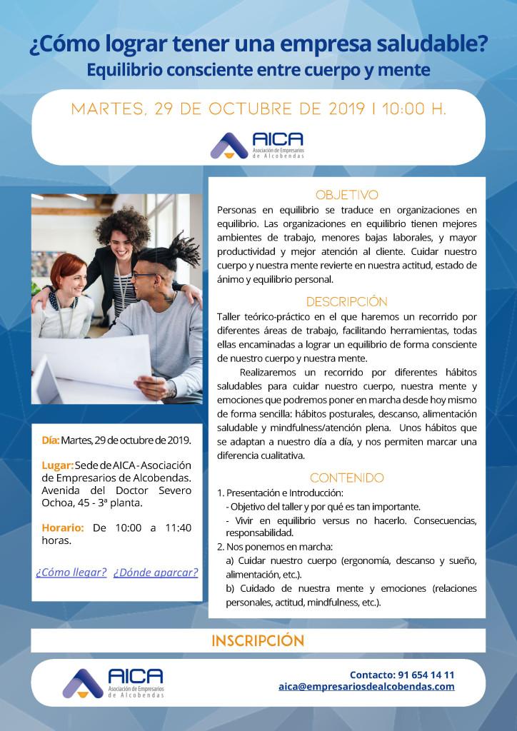 Personas y organizaciones saludables - 29 DE OCTUBRE