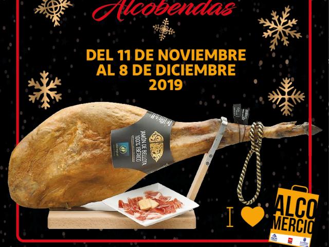 Cuarenta jamones para empezar la campaña navideña en los comercios de Alcobendas