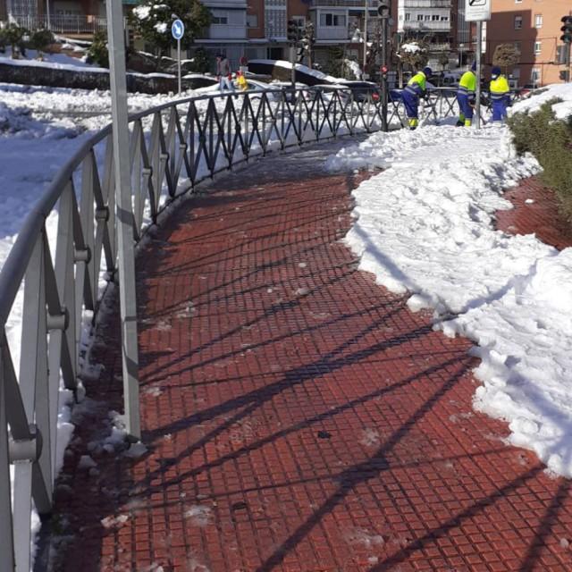 Situación nevada Alcobendas – Principales vías abiertas a la circulación