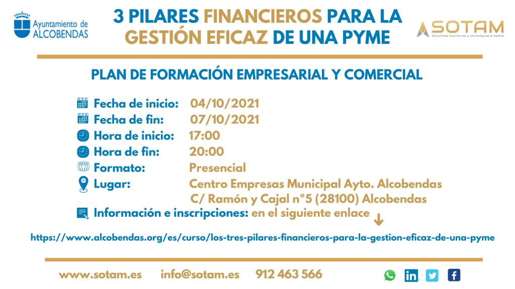 3 pilares financieros para la gestión eficaz de una pyme Ayto Alcobendas_SOTAM